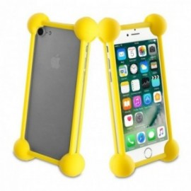 Muvit Life - Coque bumper universelle YELLOW TAILLE 5''