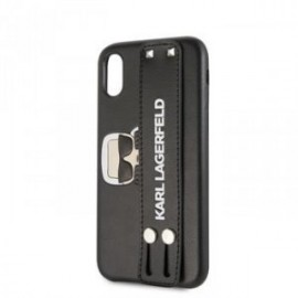 Coque pour Iphone X/XS Karl Lagerfeld hand strap noir
