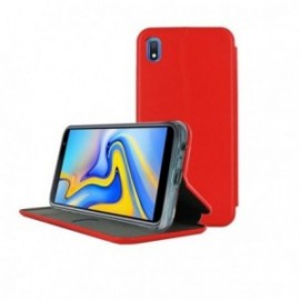 Etui pour Samsung A10 folio stand rouge