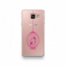 Coque pour Samsung Galaxy Note 10 motif Cage d'Oiseaux Rond Rose