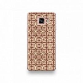 Coque pour Samsung Galaxy Note 10 motif Carreaux De Ciment Décor Normandie Marron