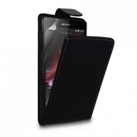 Etui Sony Xperia Z noir simili