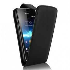 Etui Sony Xperia V noir simili