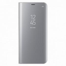 Etui stand folio effet miroir argent pour Xiaomi Redmi 9T