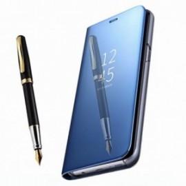 Etui stand folio effet miroir bleu pour Xiaomi Redmi 9T