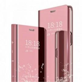 Etui stand folio effet miroir rose pour Xiaomi Redmi 9T