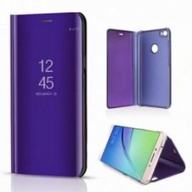 Etui stand folio effet miroir violet pour Xiaomi Redmi 9T