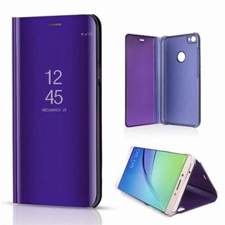 Etui stand folio effet miroir violet pour Samsung Note 10