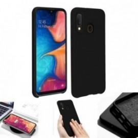 Coque toucher rubber noir pour Samsung A20E