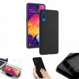 Coque toucher rubber noir pour Samsung A50