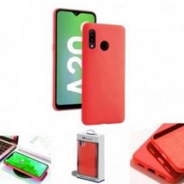 Coque toucher rubber rouge pour Samsung A20E