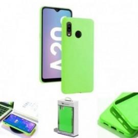 Coque toucher rubber vert pour Samsung A20E