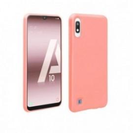 Coque toucher rubber rose pour Samsung A10