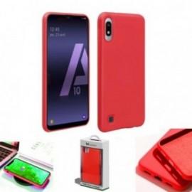 Coque toucher rubber rouge pour Samsung A10