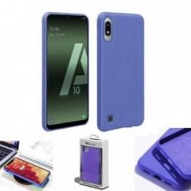 Coque toucher rubber bleu pour Samsung A10