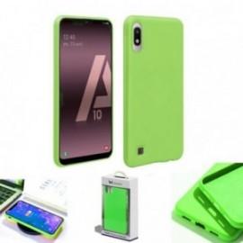 Coque toucher rubber vert pour Samsung A10