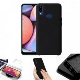 Coque toucher rubber noir pour Samsung A10S