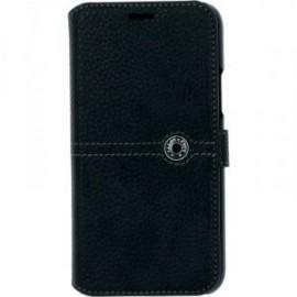 Etui pour Iphone 11 folio Façonnable noir bouton laqué