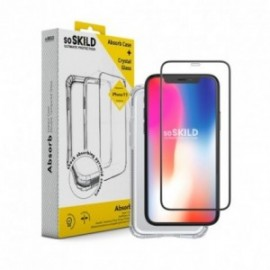 Pack SoSkild Coque Absorb 2.0 et Verre Trempé Transparent pour iPhone 11