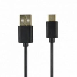 Câble data USB / Type C noir / 1 Mètre