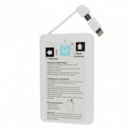 Batterie de Secours Power Bank Ultra Plat 2600 mAh Blanc