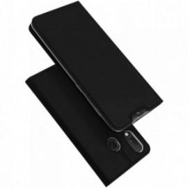 Etui pour Samsung A20E folio support porte carte noir