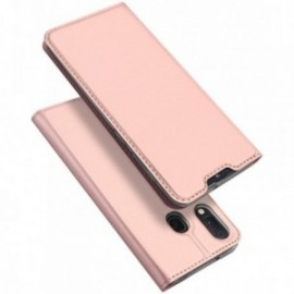 Etui pour Samsung A20E folio support porte carte rose