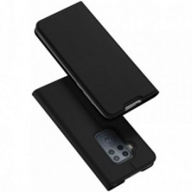 Etui pour Motorola One zoom folio support porte carte noir