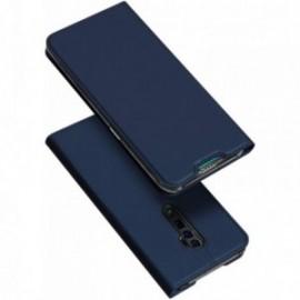 Etui pour Oppo Reno 5G / Reno 10x Zoom folio support porte carte bleu nuit