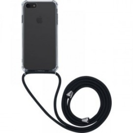 Coque rigide transparente à bandoulière amovible pour iPhone 6/6S/7/8