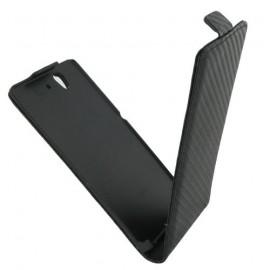 Etui Sony Xperia Z C6603 noir carbone