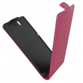 Etui Sony Xperia Z C6603 rose carbone