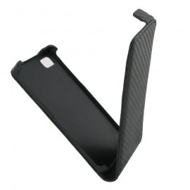 Etui Blackberry z10 noir aspect carbone