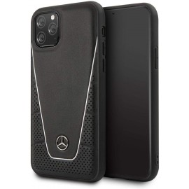 MERCEDES Coque pour Iphone 11 Pro Quilted Genuine Noir