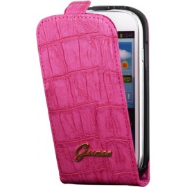 Etui Guess Samsung Galaxy S3 mini i8190 rose effet croco