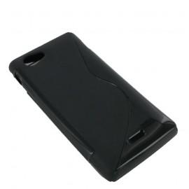 Coque Sony xperia J noire bi-matière