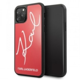 Coque Karl Lagerfeld Double Layer HC Karl Signature pour iPhone 11 Pro Max rouge