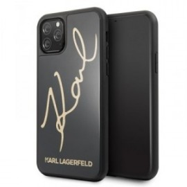 Coque Karl Lagerfeld Double Layer HC Karl Signature pour iPhone 11 Pro Max  noir