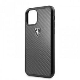 Coque Ferrari Heritage Carbone pour iPhone 11 Pro noir