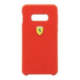 Coque Ferrari SF silicone pour Samsung S10 rouge
