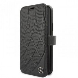 Etui Mercedes Quilted Perforated folio stand pour iPhone 11 noir