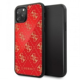 Coque pour Iphone 11 Pro max Guess 4G Dobble layer rouge