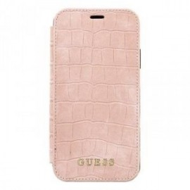Etui pour Iphone XR 6,1 Guess croco rose
