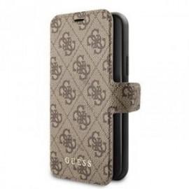 Etui pour Iphone 11 Pro Guess folio Charms 4G marron