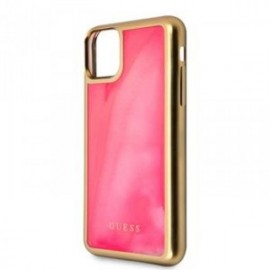 Coque pour Iphone 11 Guess Glow In The Dark rose