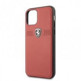 Coque pour Iphone 11 Ferrari Off Track Grained rouge