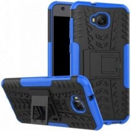 Coque pour Asus Zenfone 4 selfie ZD553KL Anti chocs stand béquille bleu / noir