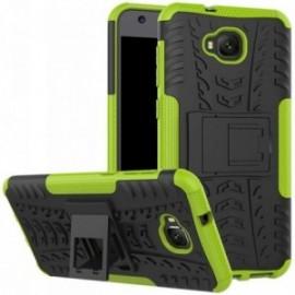 Coque pour Asus Zenfone 4 selfie ZD553KL Anti chocs stand béquille vert / noir
