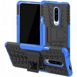 Coque pour One plus 7 Pro Anti chocs stand béquille noir / bleu