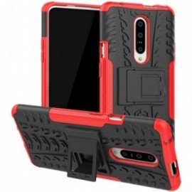 Coque pour One plus 7 Pro Anti chocs stand béquille noir / rouge